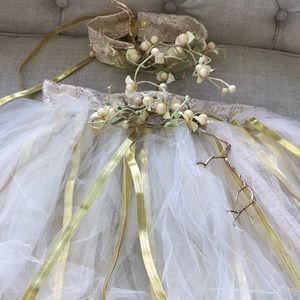Wedding Queen Fairy Tutu Skirt and Crown Set